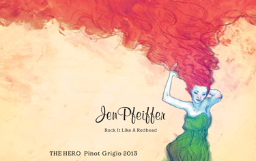 Jen Pfeiffer The Hero Pinot Grigio 2013