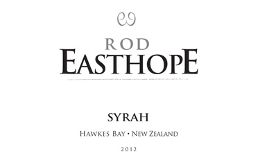 Rod Easthope Hawkes Bay Syrah 2012