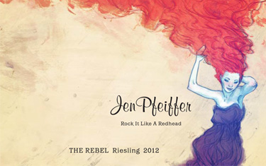 Jen Pfeiffer The Rebel Riesling 2012
