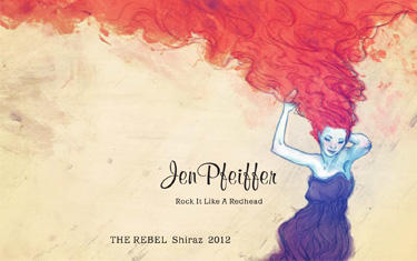 Jen Pfeiffer The Rebel Shiraz 2012